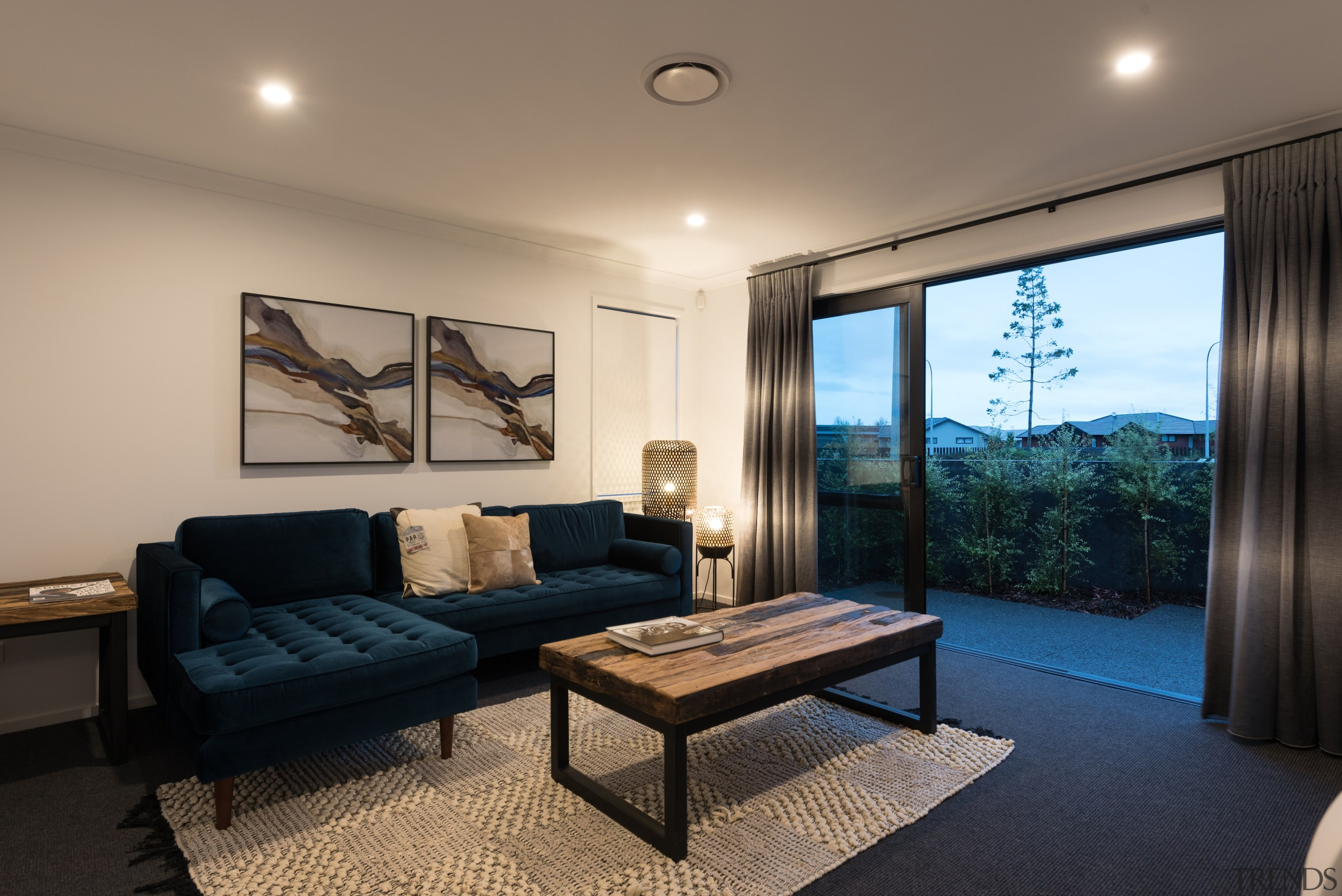 The home's second living space also opens up