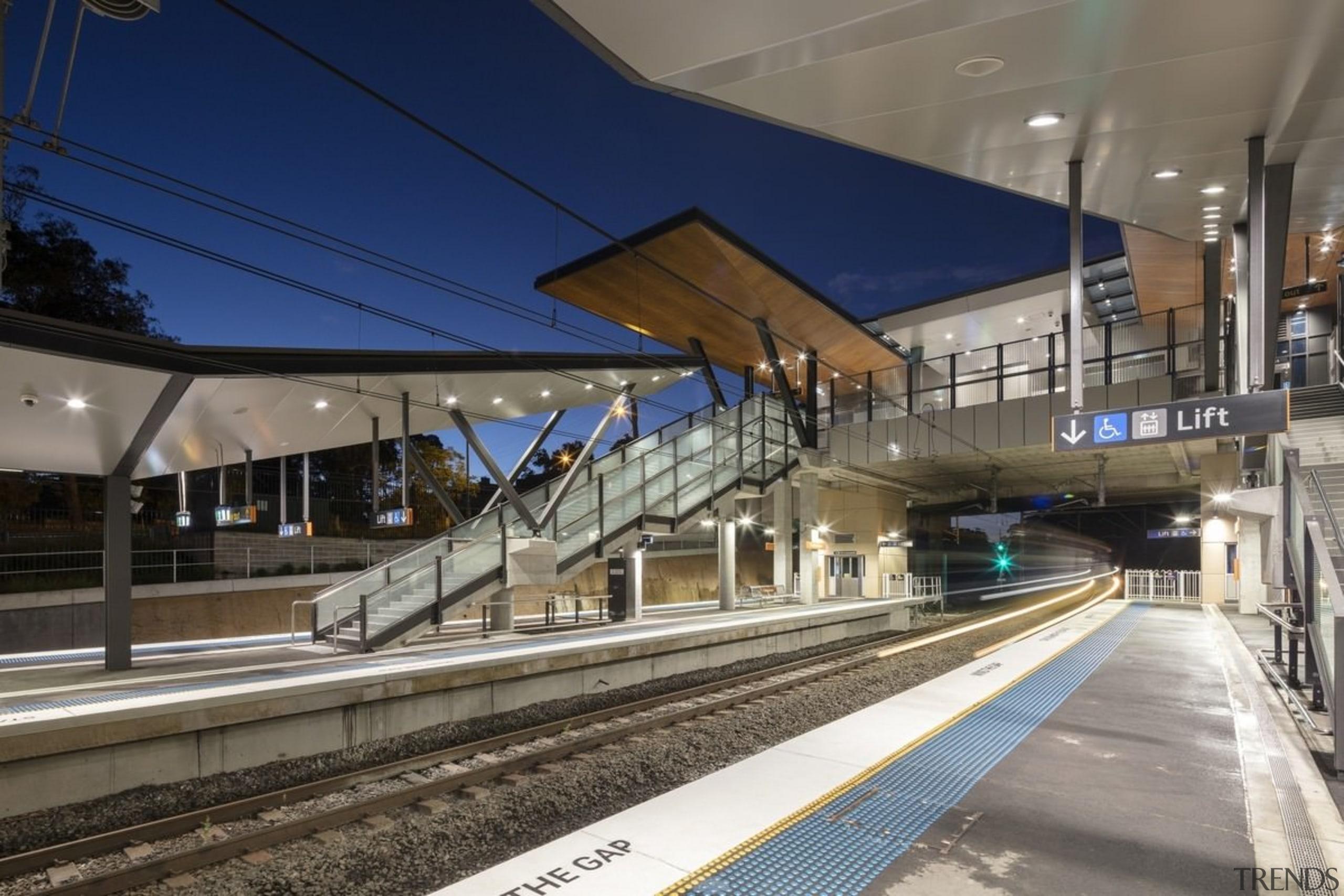 Cheltenham Station – Cox Architecture - Cheltenham Station high speed rail, metropolitan area, public transport, track, train, train station, transport, gray