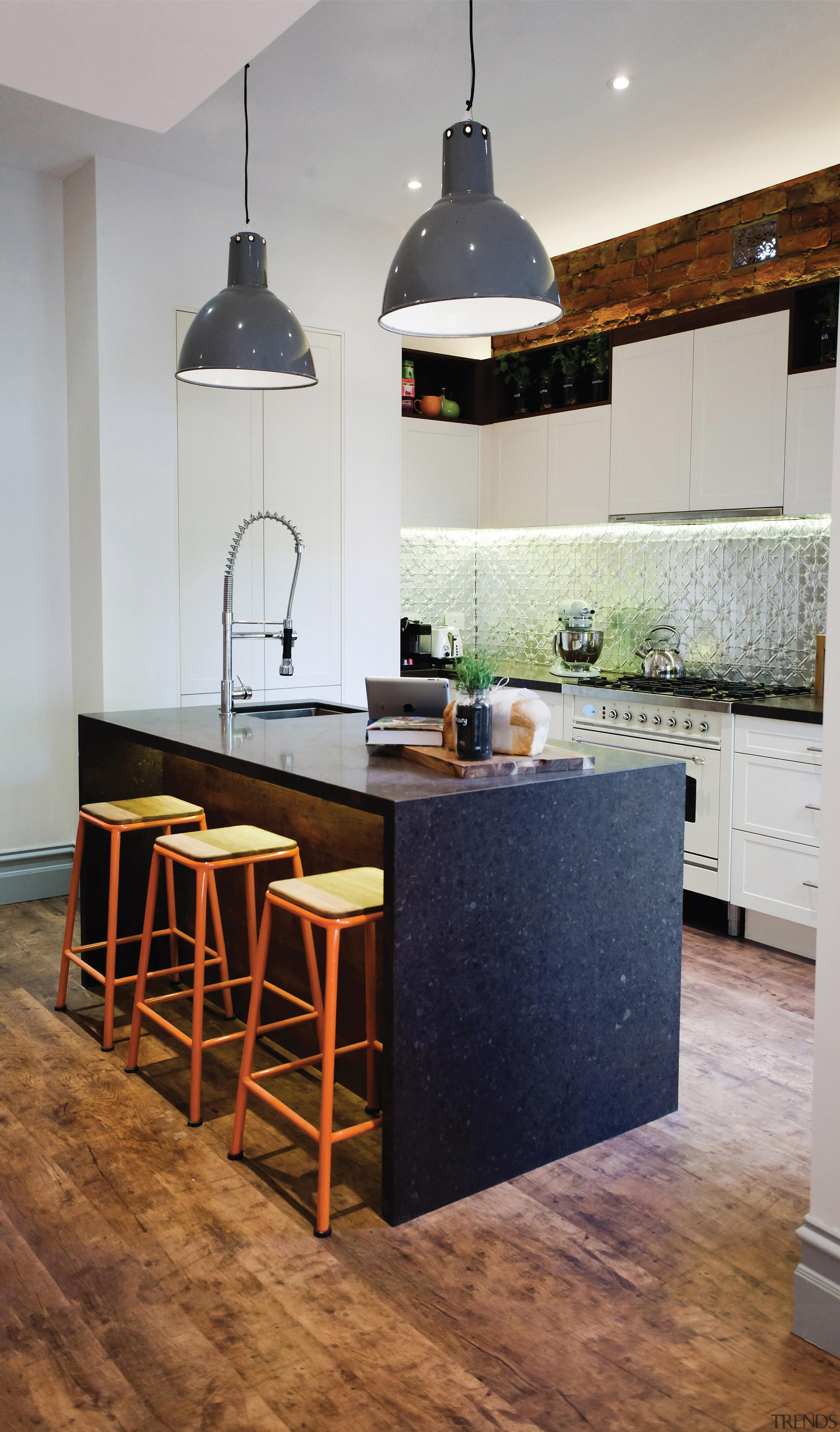 A deliciously organic, rich, blended classic warm brown. cabinetry, countertop, cuisine classique, floor, flooring, furniture, hardwood, interior design, kitchen, laminate flooring, room, table, wood flooring, gray