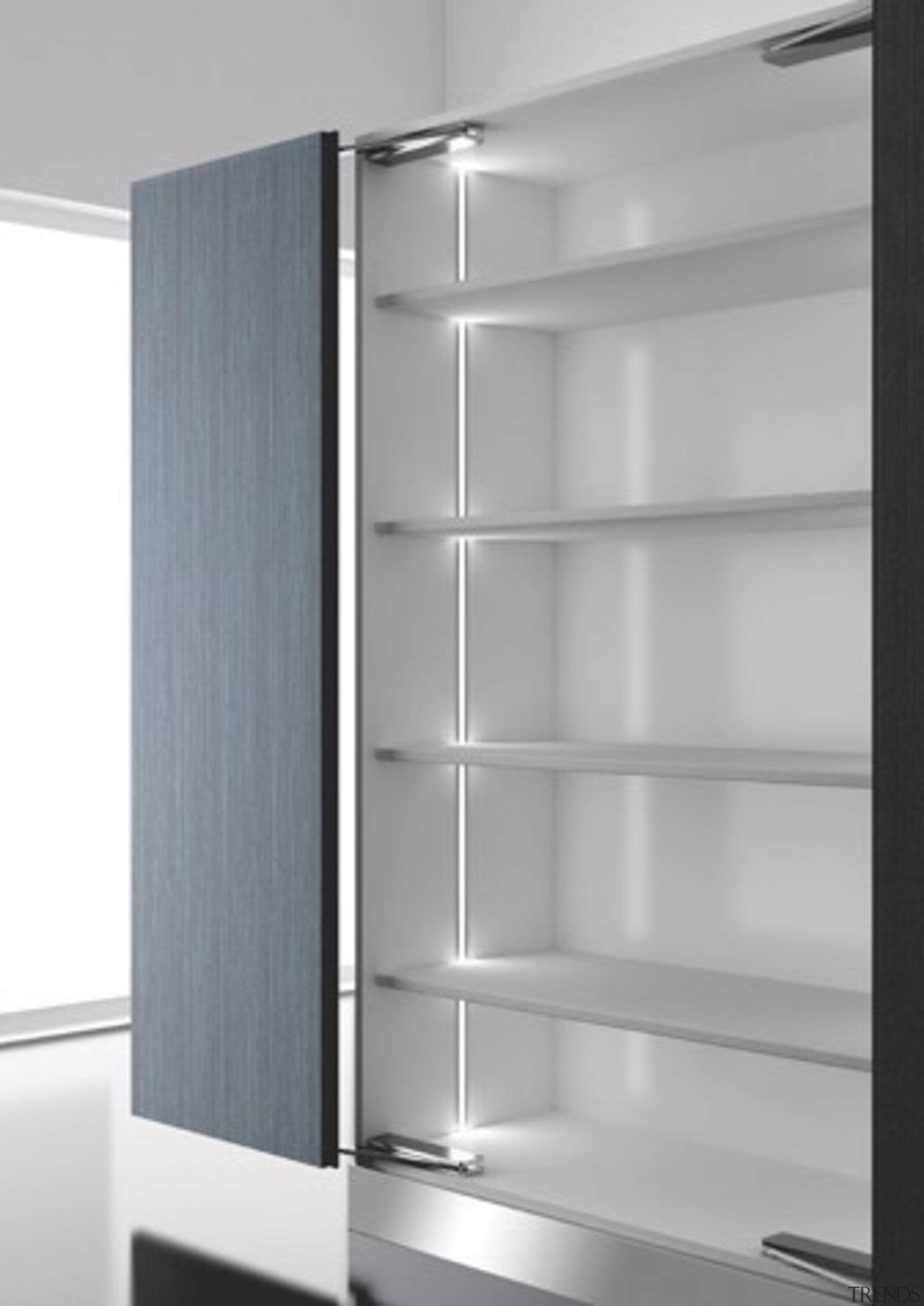 Domus Line Diva LED Profile Designed in Italy to angle, bathroom accessory, furniture, product design, shelf, shelving, gray