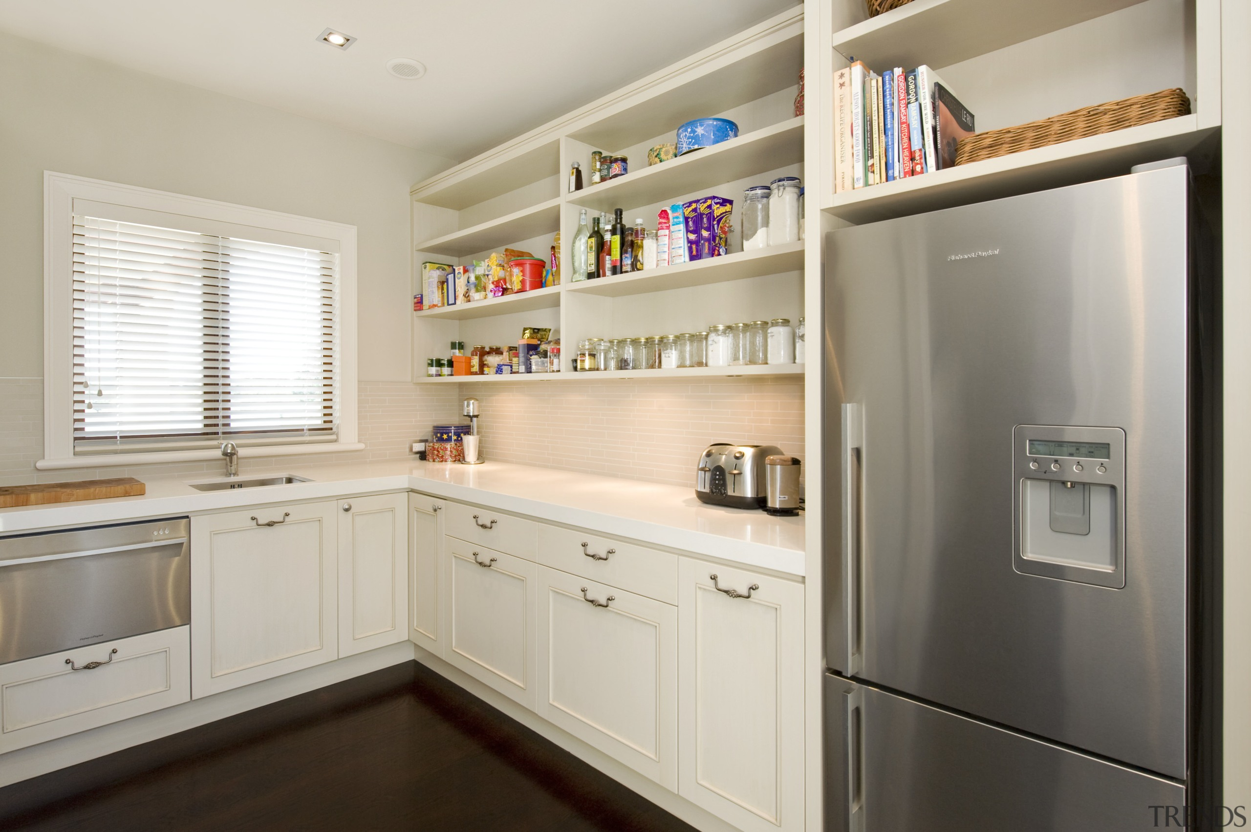 Image of the kitchen designed by Fyfe kitchens cabinetry, countertop, cuisine classique, home appliance, interior design, kitchen, room, gray