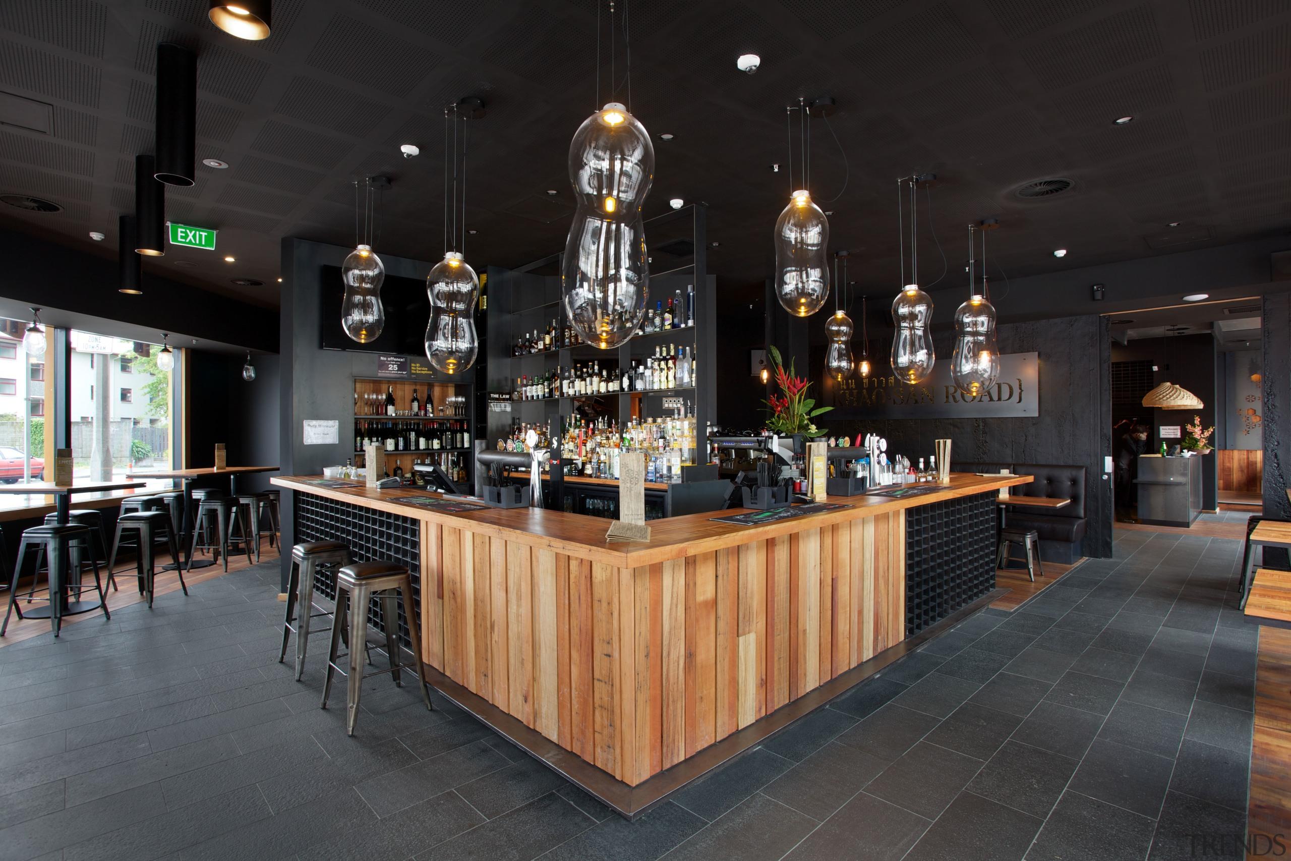 The Spice Paragon Thai fusion restaurant and Khao-San bar, interior design, liquor store, restaurant, black