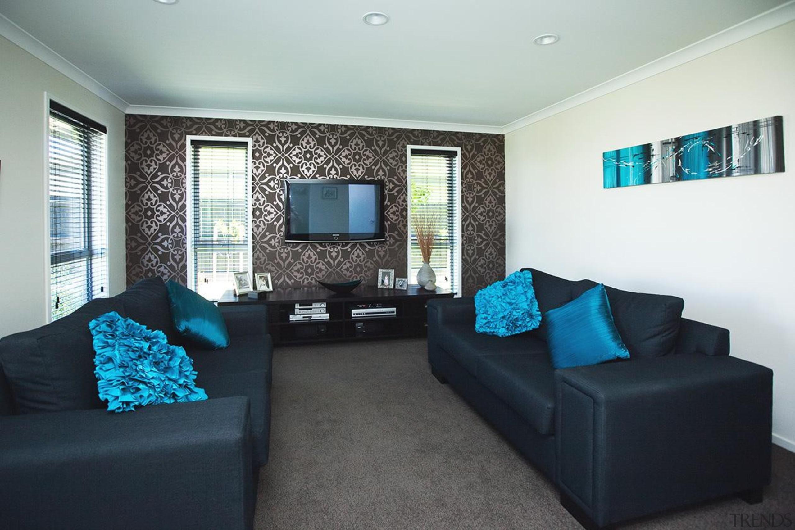 For more information, please visit www.gjgardner.co.nz ceiling, home, interior design, living room, property, real estate, room, black, white