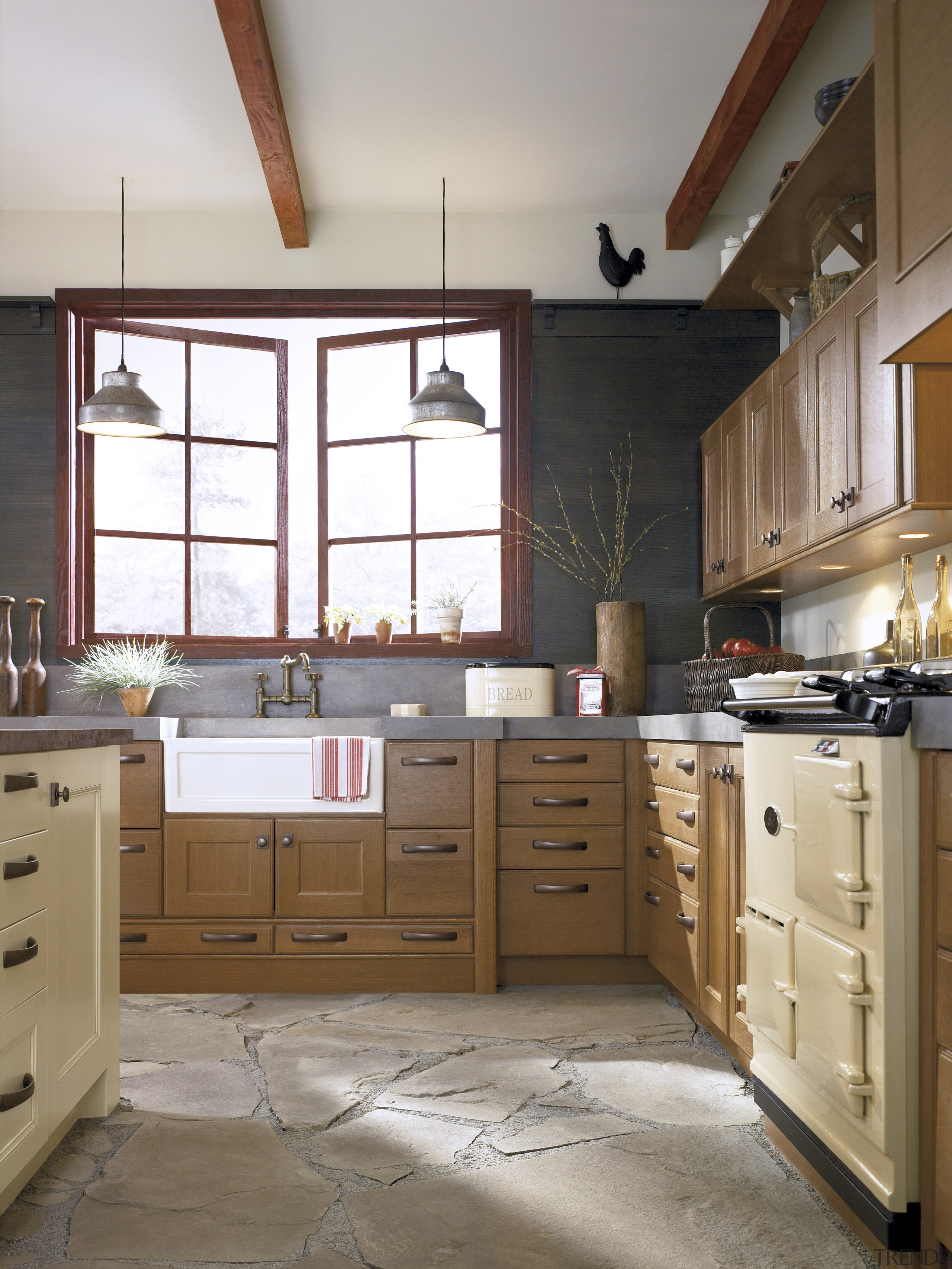 View of a kitchen which features cabinetry from cabinetry, countertop, cuisine classique, interior design, kitchen, room, gray, brown