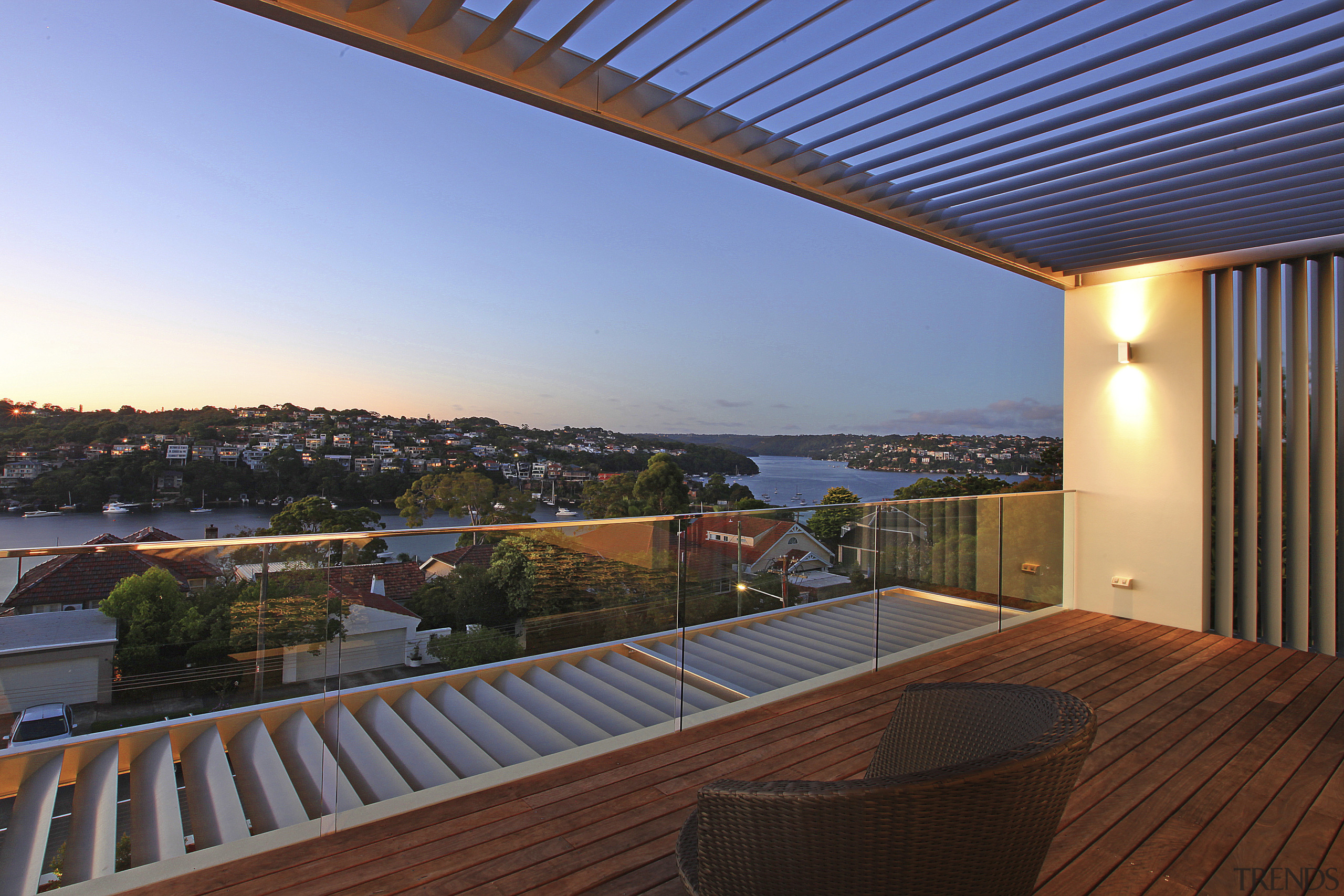 View from balcony. - View from balcony. - apartment, architecture, balcony, condominium, daylighting, deck, estate, home, house, outdoor structure, penthouse apartment, property, real estate, roof, sea, sky, villa, teal