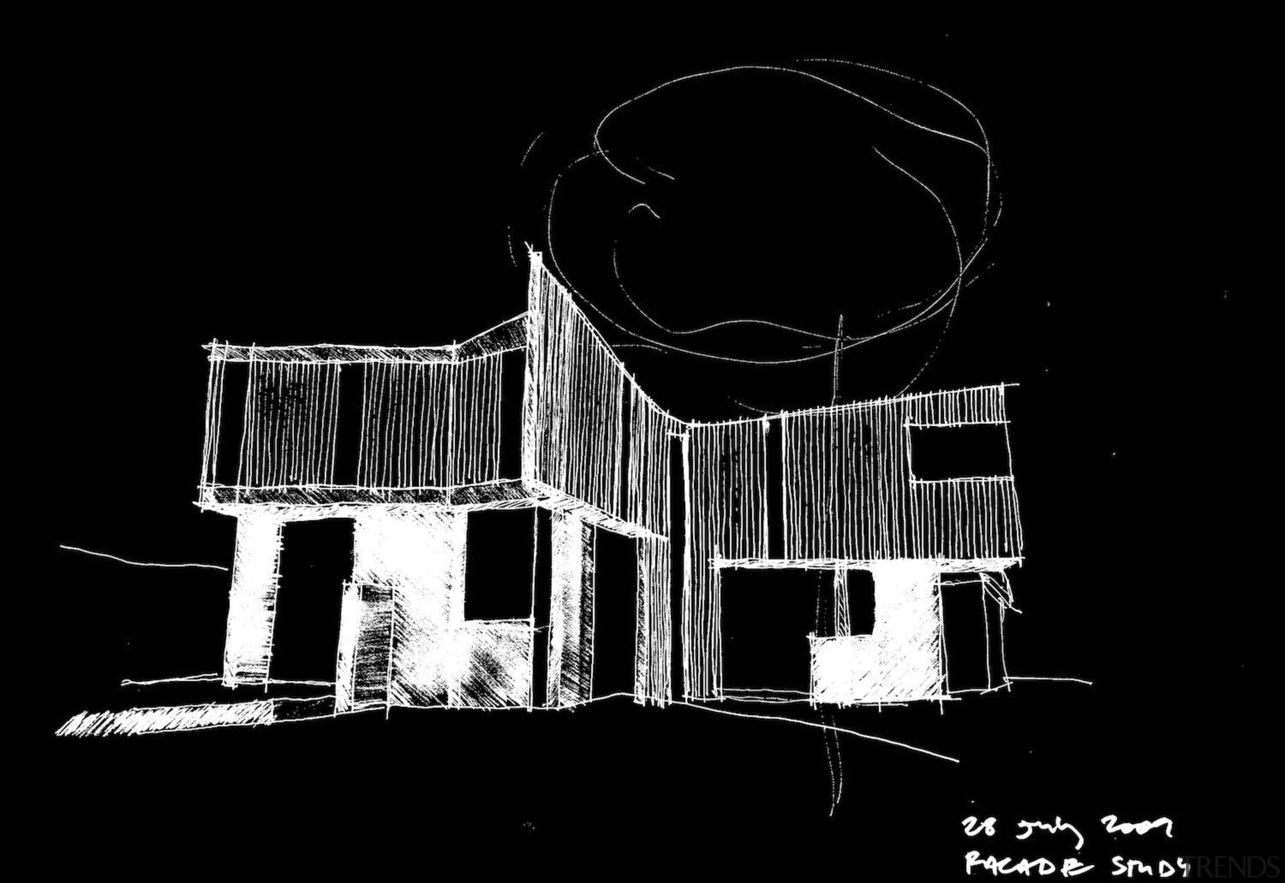 Architect: Steffen Welsch ArchitectsPhotography: Rhiannon Slatter architecture, black, black and white, darkness, design, font, monochrome, monochrome photography, night, structure, black