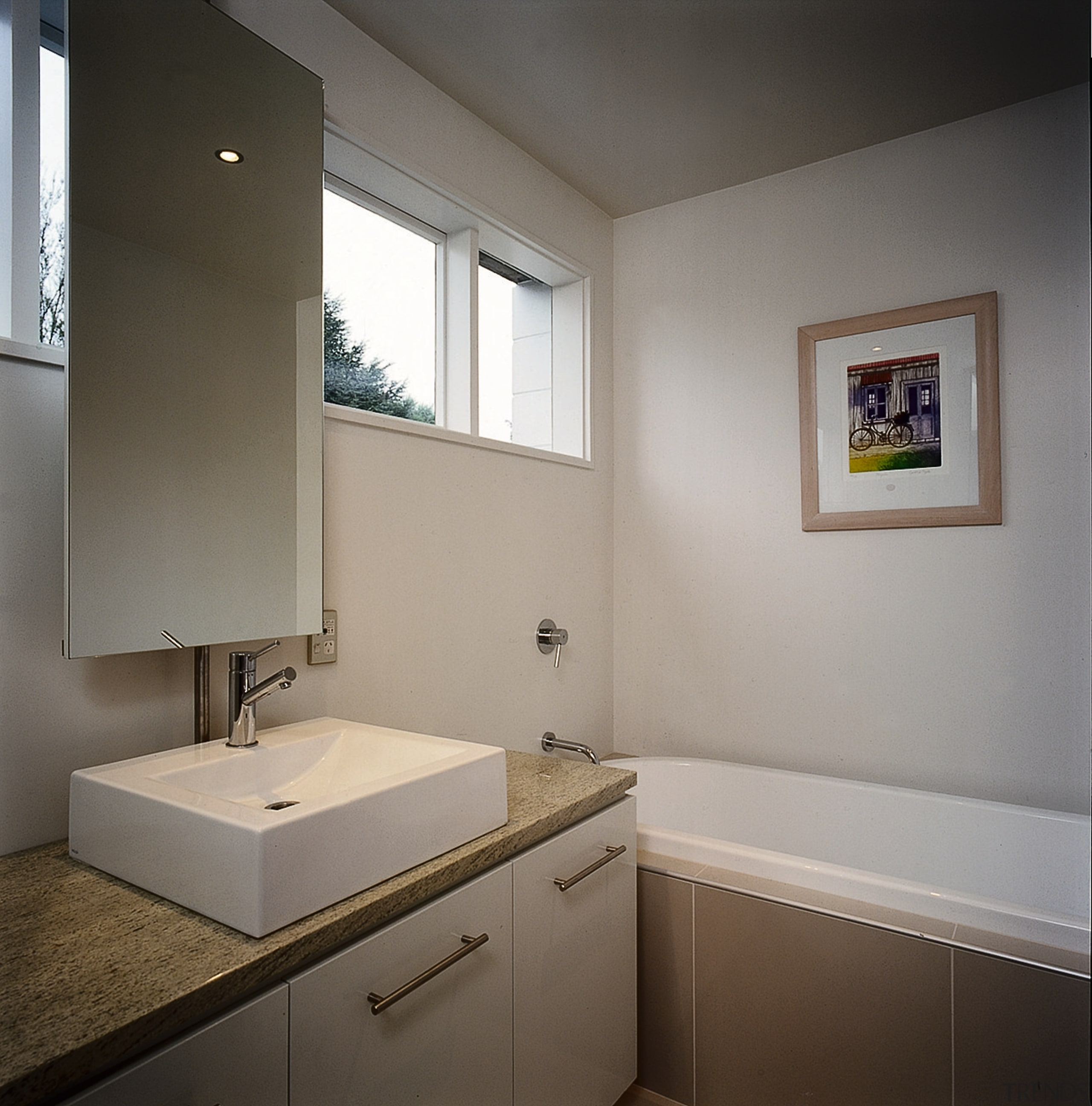 The detail shot of a bathroom showing the architecture, bathroom, bathroom accessory, daylighting, home, interior design, property, real estate, room, sink, window, gray