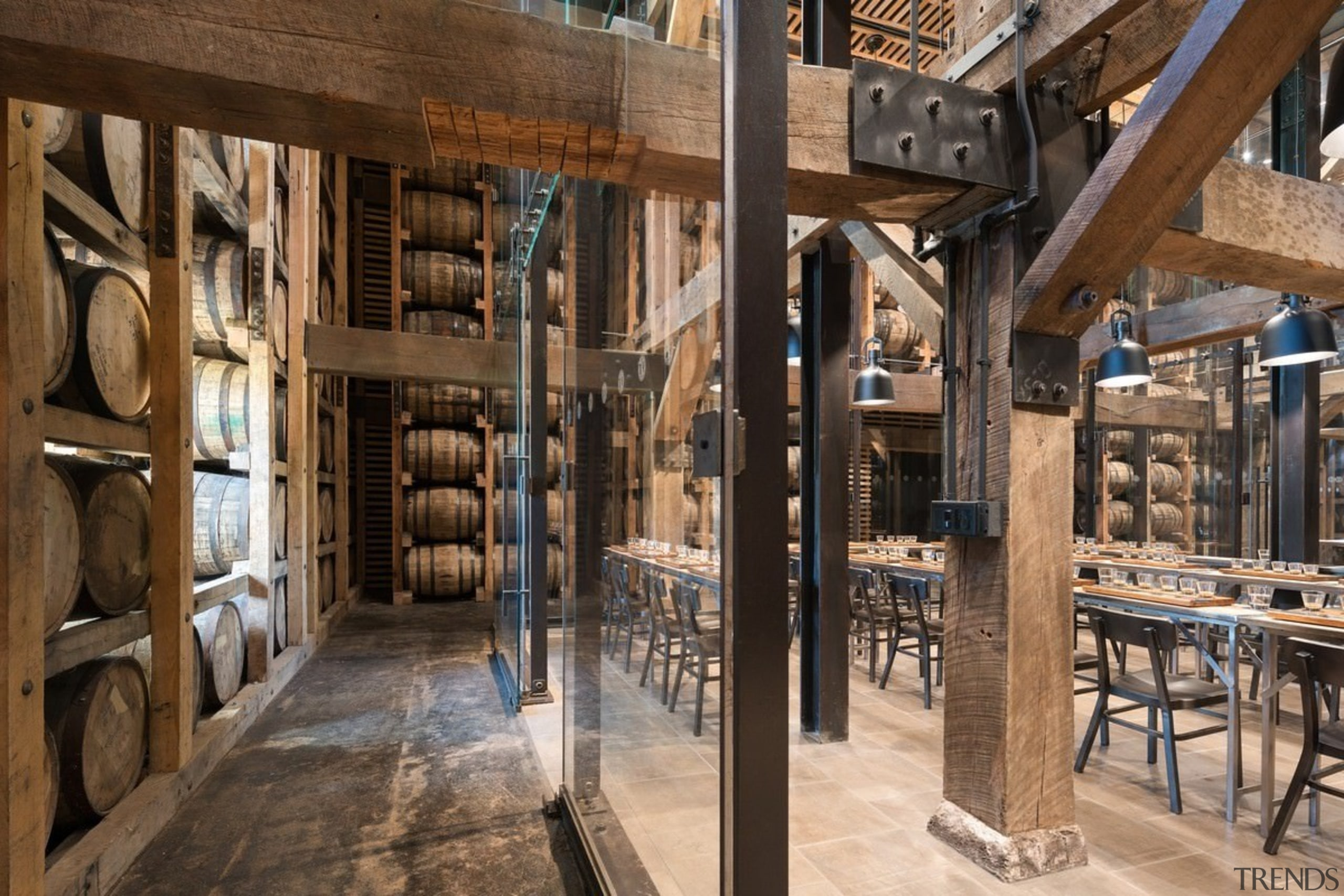Barrel house - Barrel house - interior design interior design, wood, brown