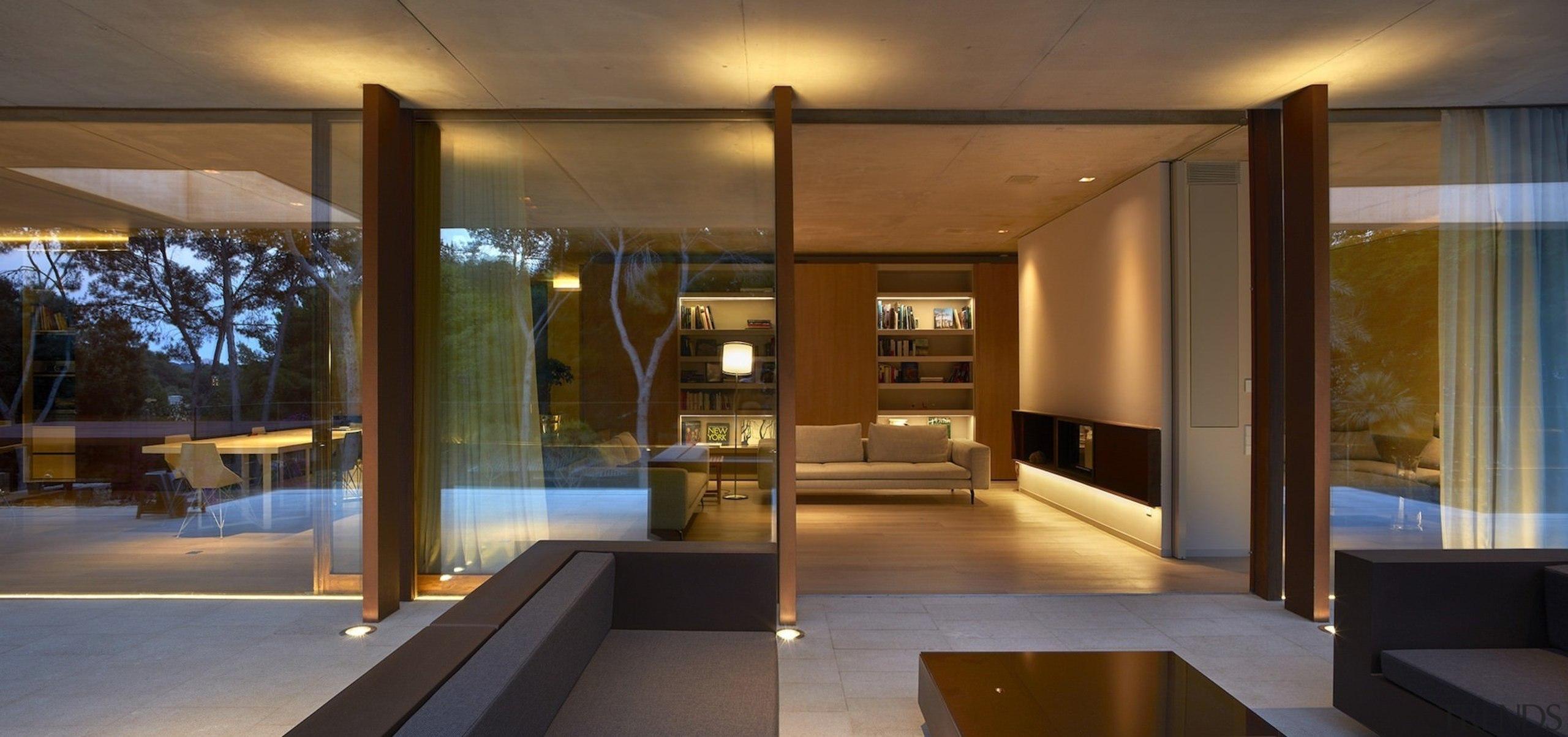 Architect: Ramón Esteve Estudio de Arquitectura architecture, ceiling, home, house, interior design, lighting, living room, lobby, real estate, window, brown