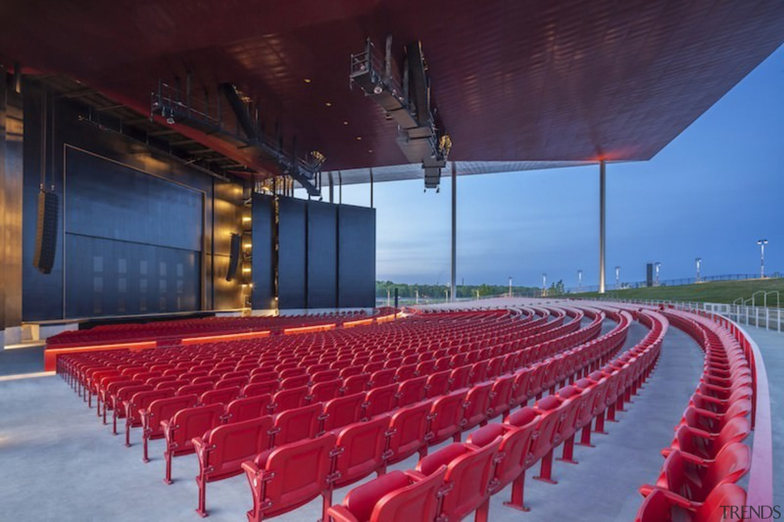 It's the ideal venue when the sun's shining architecture, auditorium, convention center, performing arts center, structure, theatre, red