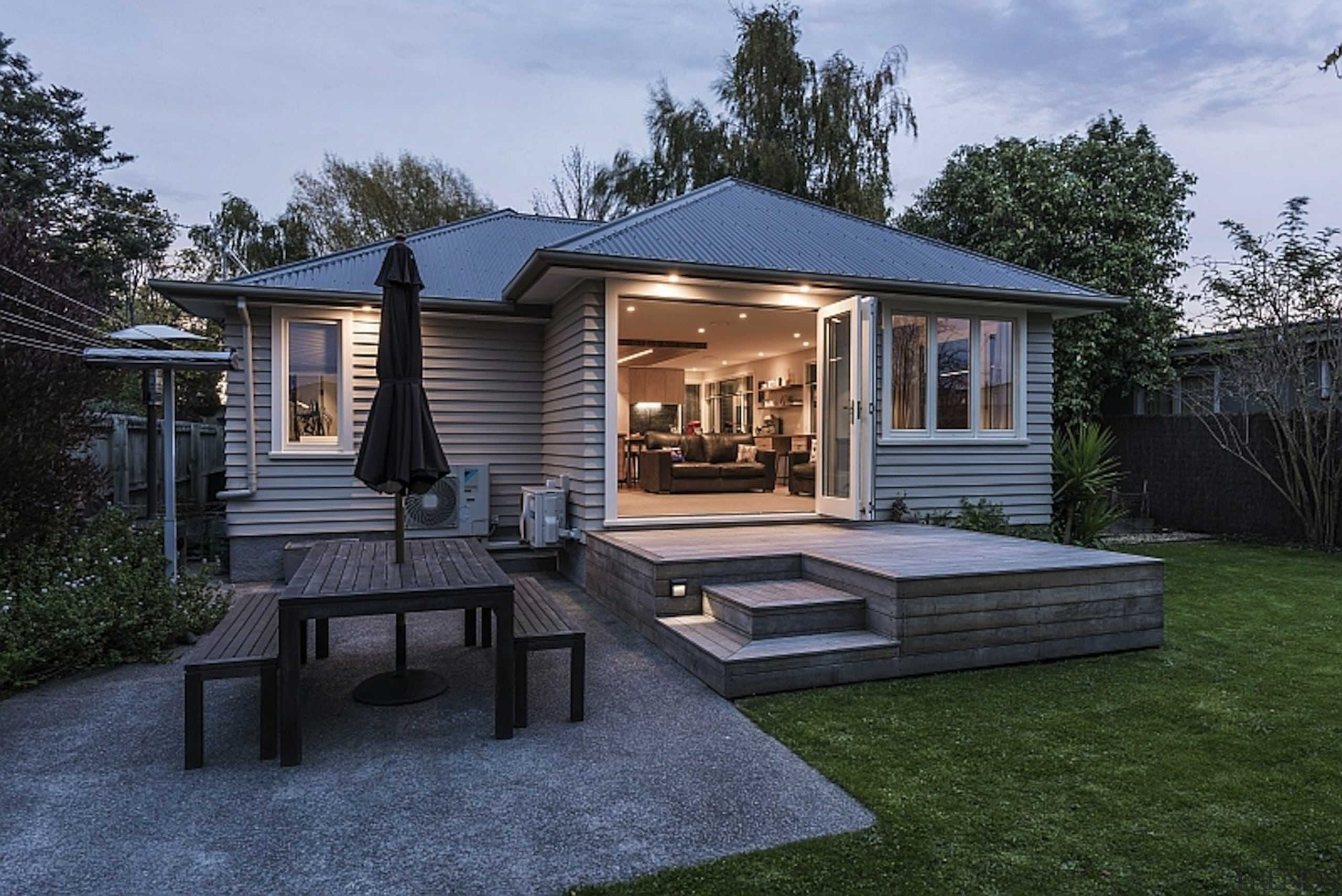 Jason Higham of Higham Architecture for Green Alterations backyard, cottage, estate, facade, farmhouse, home, house, property, real estate, residential area, siding, black
