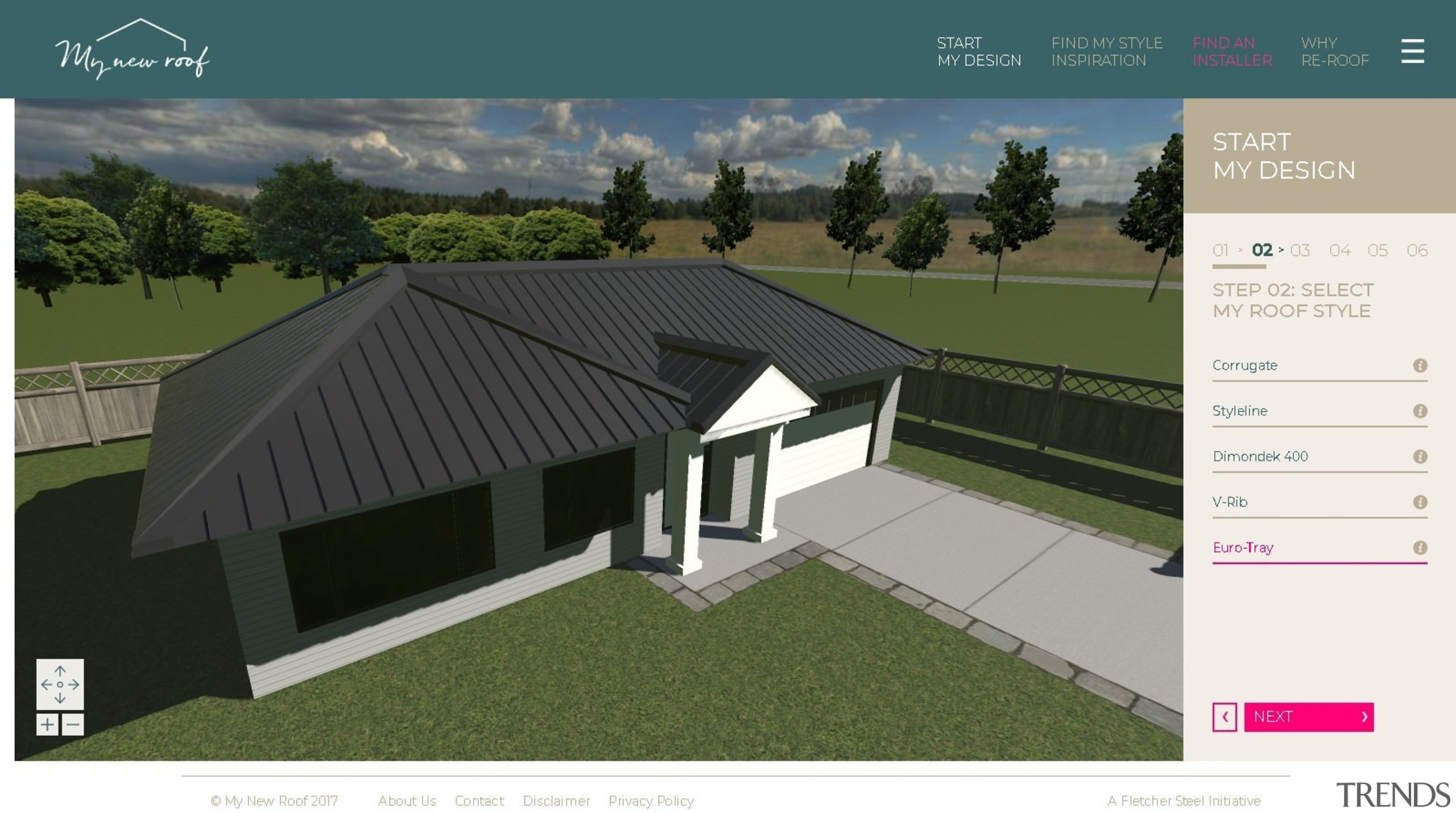 With a fully 3D interface, you can see architecture, design, elevation, facade, home, house, property, real estate, residential area, roof, shed, siding, suburb, white, brown
