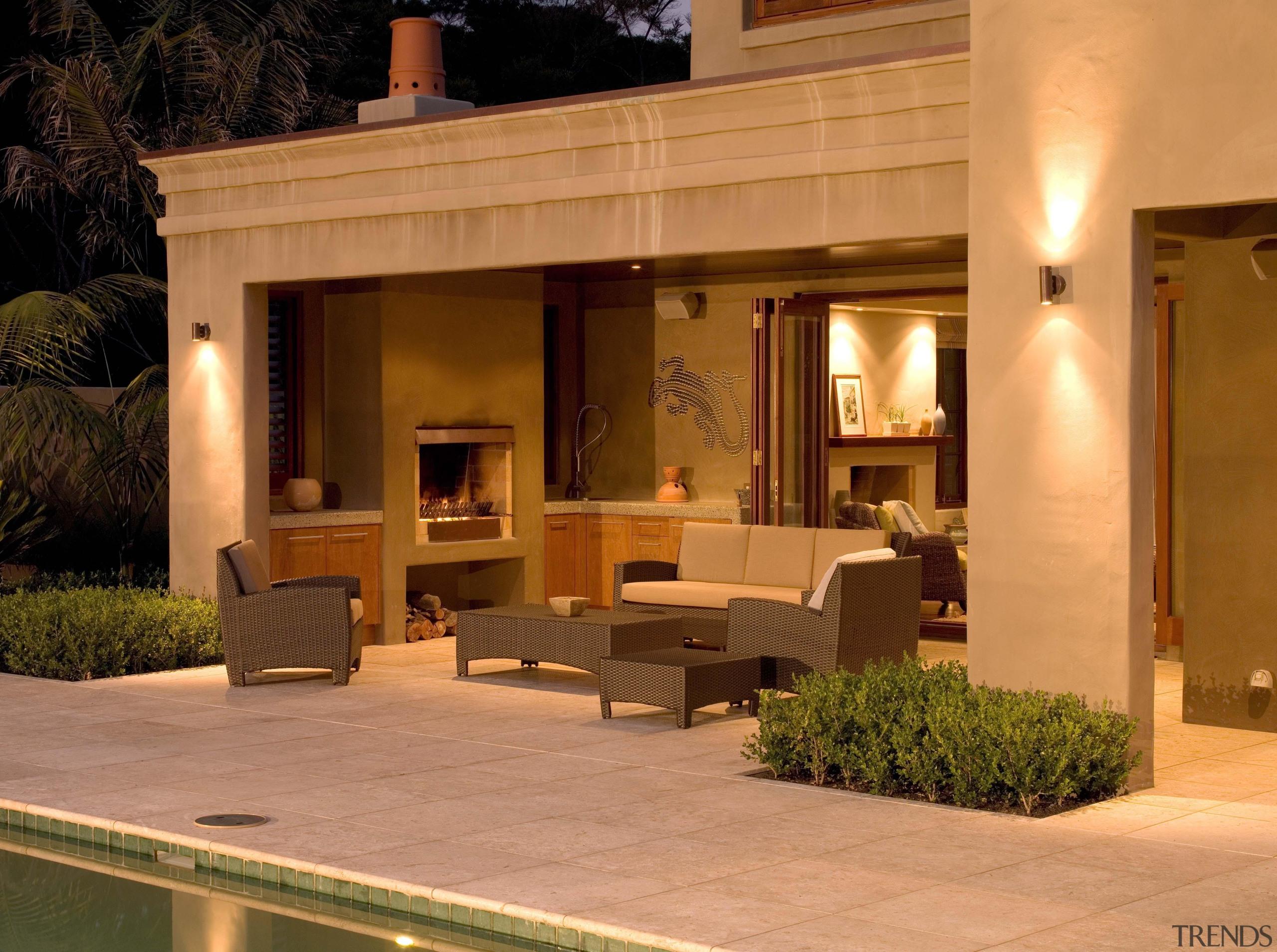 139 Onetaunga 19 - Onetaunga 19 - furniture furniture, home, interior design, landscape lighting, lighting, outdoor structure, patio, orange, brown
