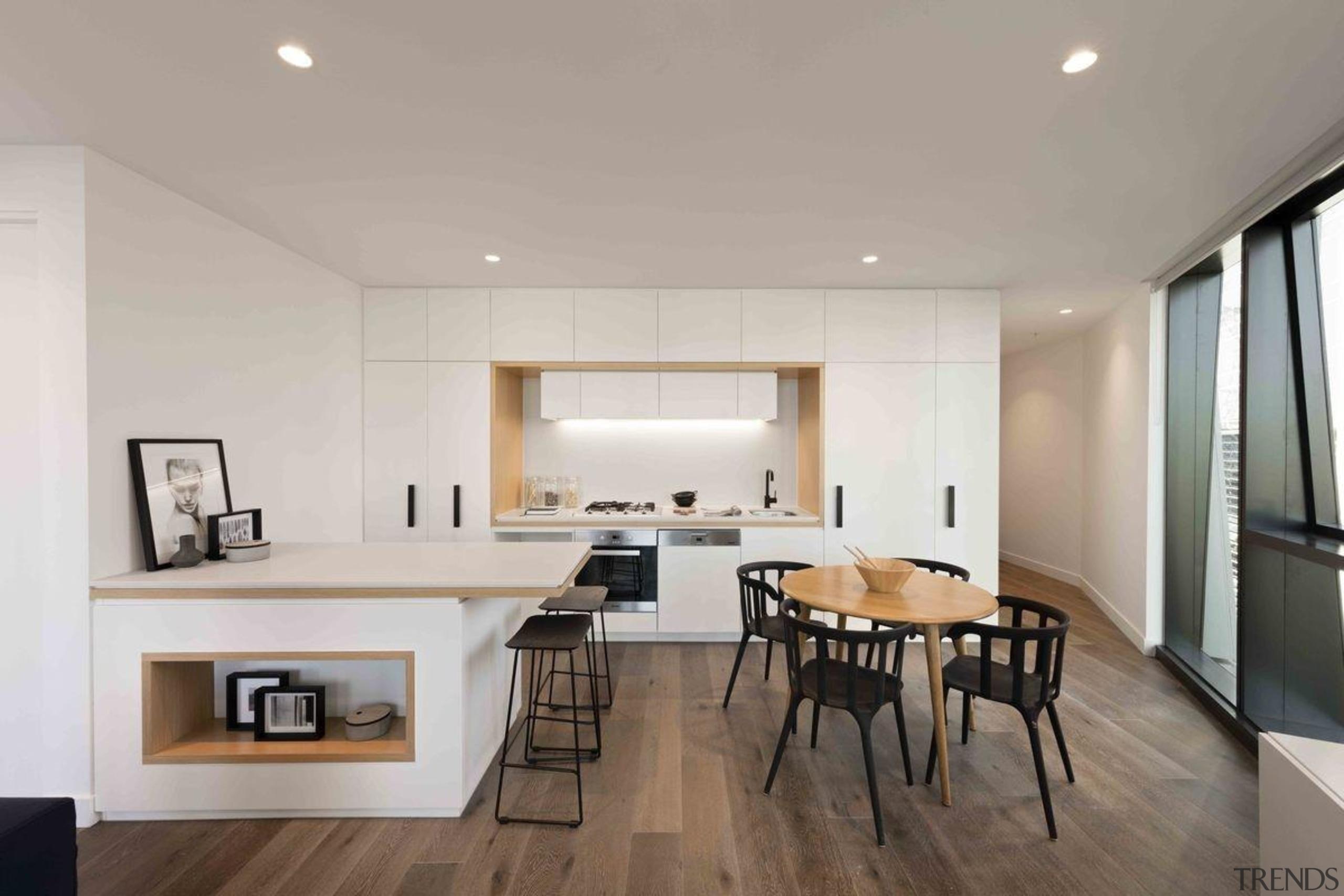 Promenade Aqui by Woods Bagot - Promenade Aqui ceiling, floor, flooring, interior design, living room, real estate, gray