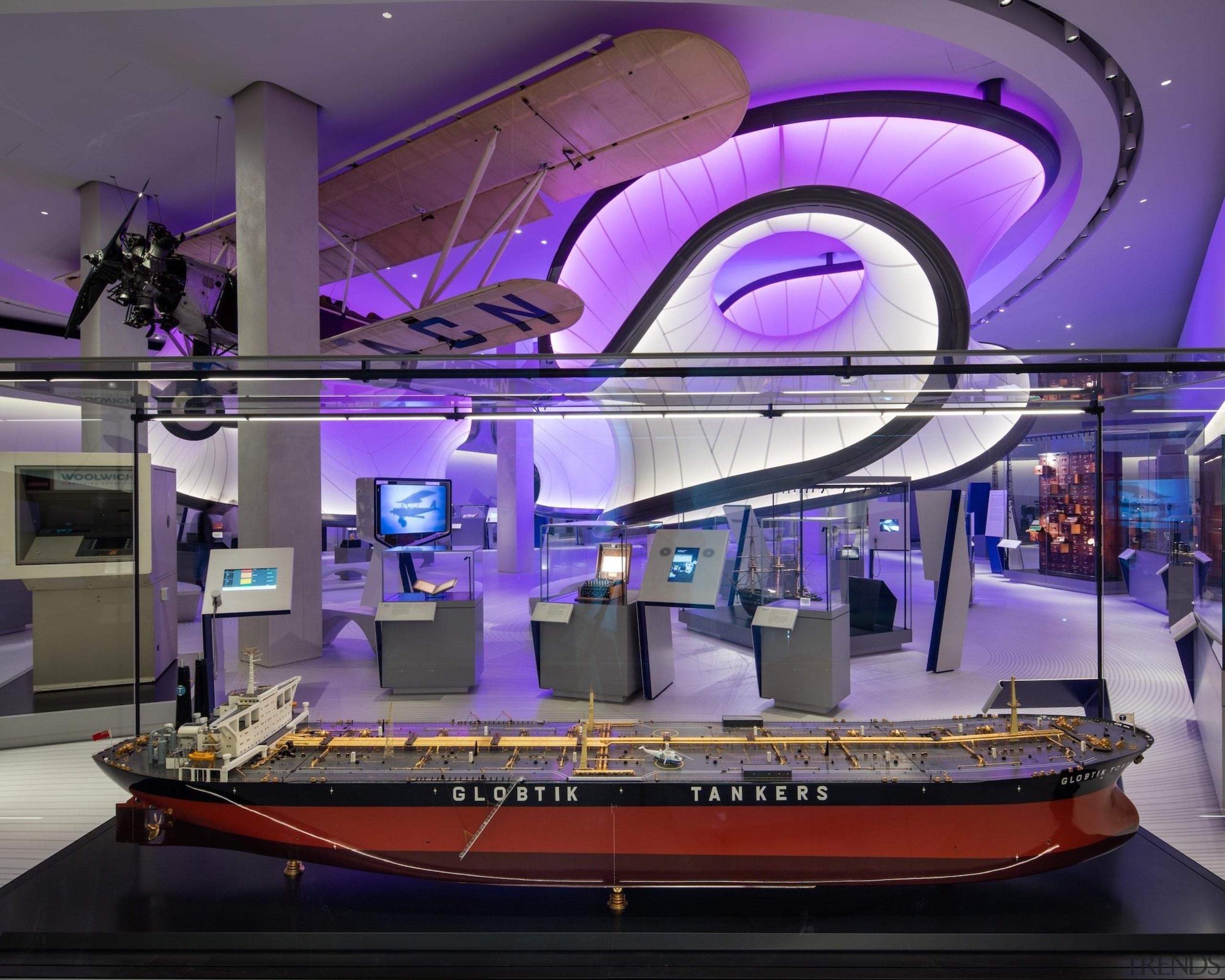 Zaha Hadid – Mathematics: The Winton Gallery – interior design, purple, purple