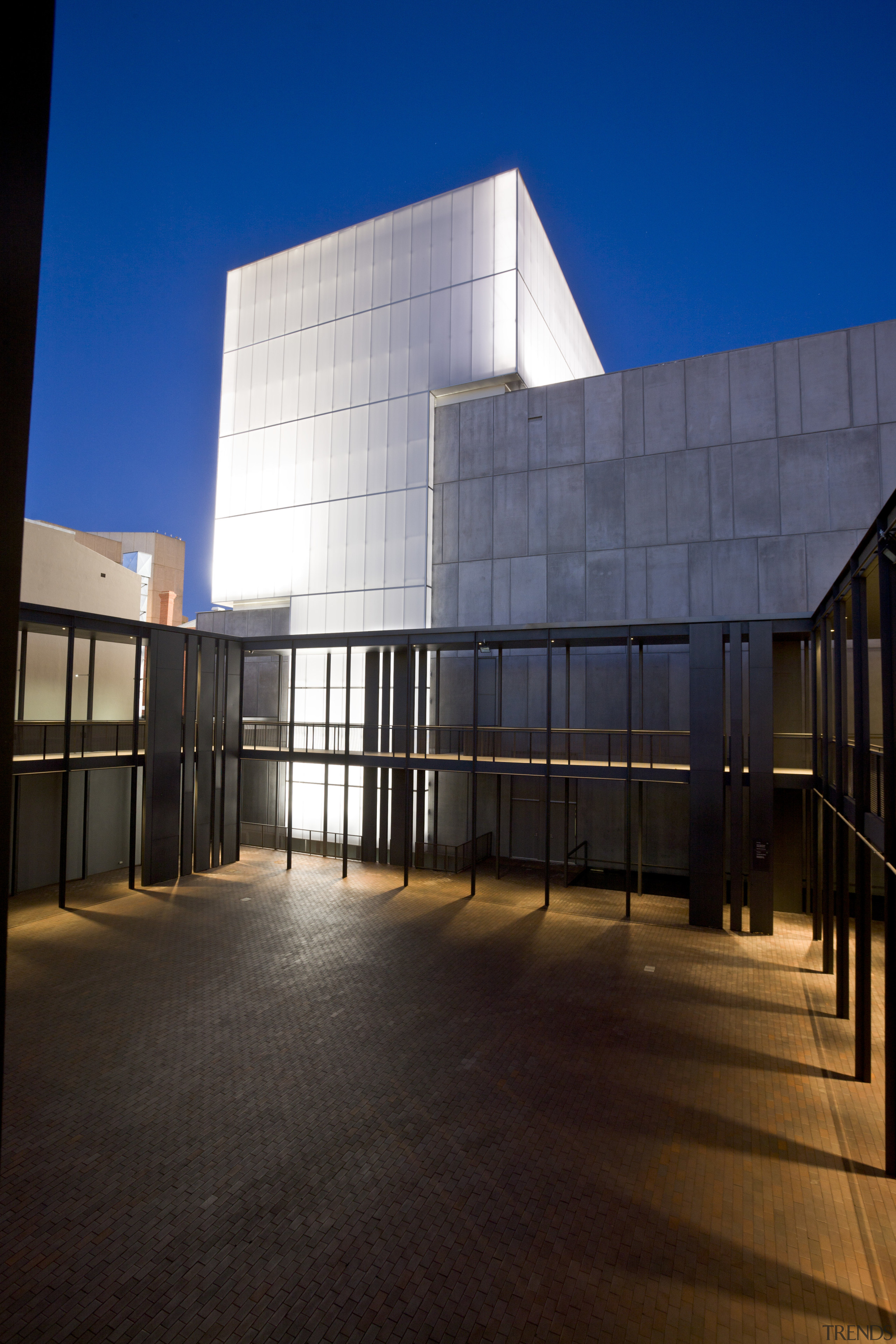 This is the Perth State Theatre, designed by architecture, building, commercial building, corporate headquarters, daylighting, daytime, evening, facade, headquarters, house, line, reflection, sky, structure, tourist attraction, window, black, blue