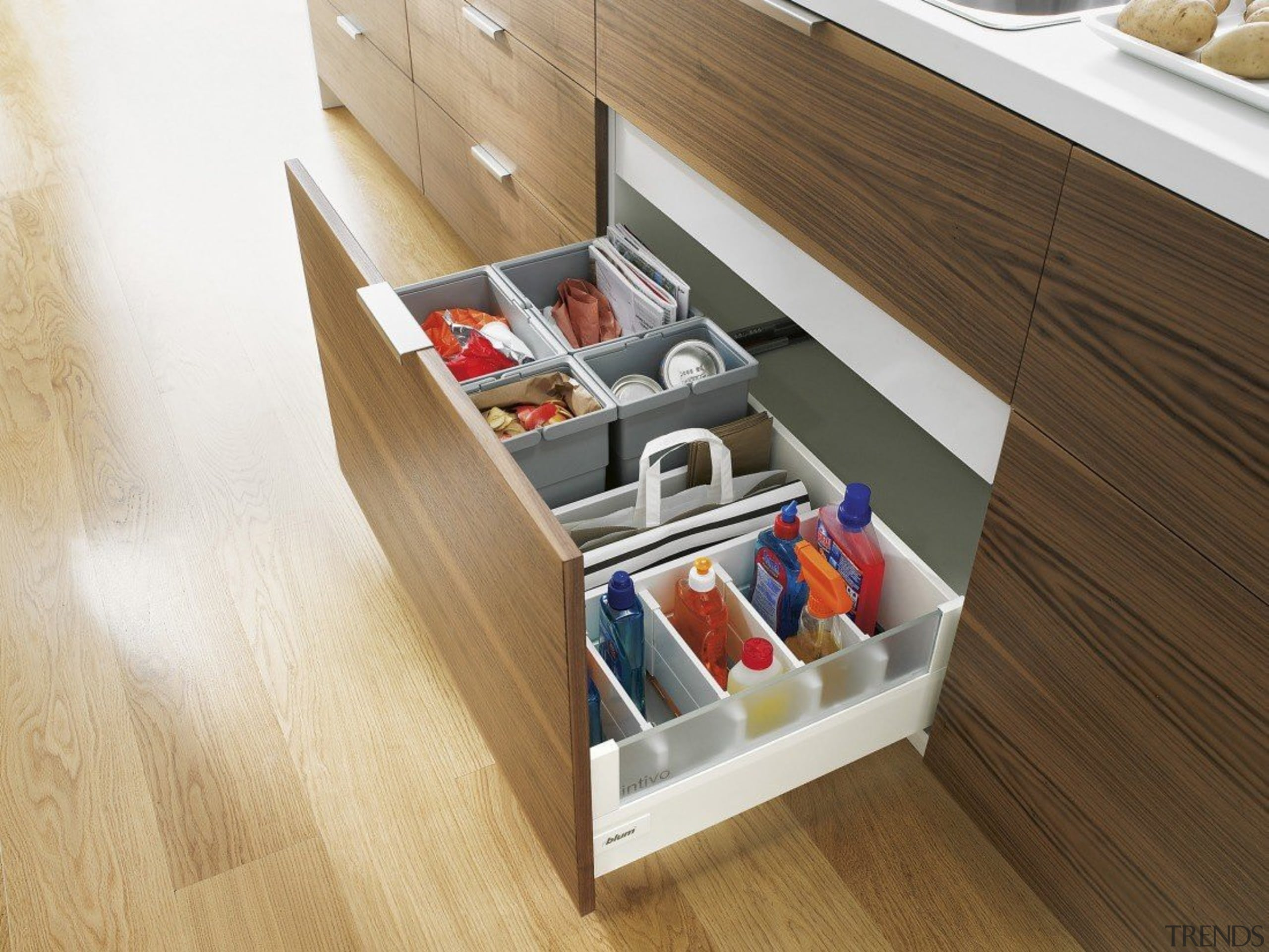 ORGA-LINE inner dividing system – so many practical drawer, floor, flooring, furniture, product, product design, shelf, shelving, wood, brown, white