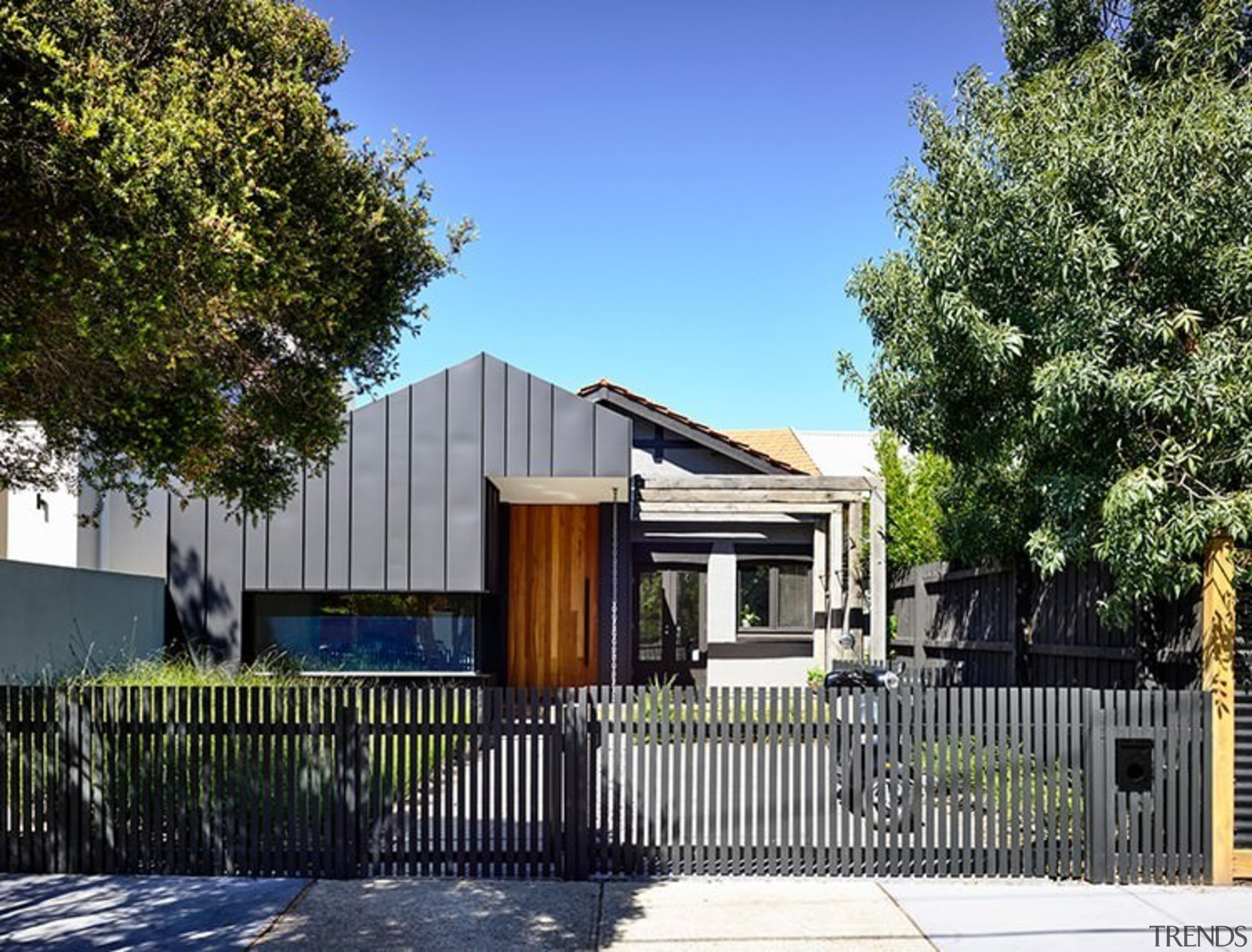 The home certainly has an interesting street facade architecture, building, cottage, elevation, estate, facade, fence, home, house, neighbourhood, property, real estate, residential area, suburb