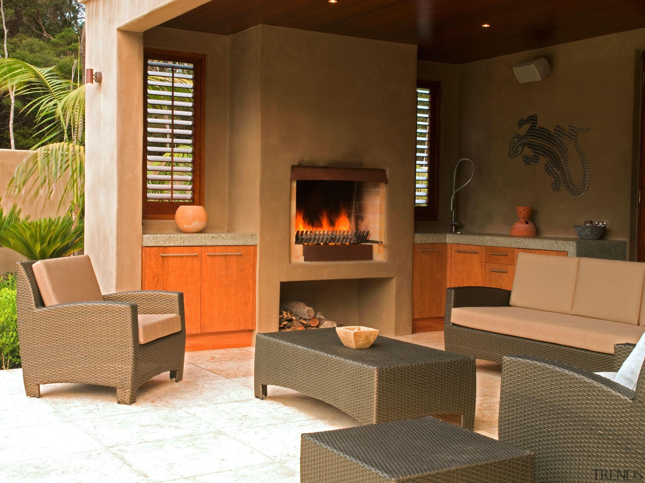 139 onetaunga fire - Onetaunga Fire - fireplace fireplace, furniture, hearth, interior design, living room, table, brown