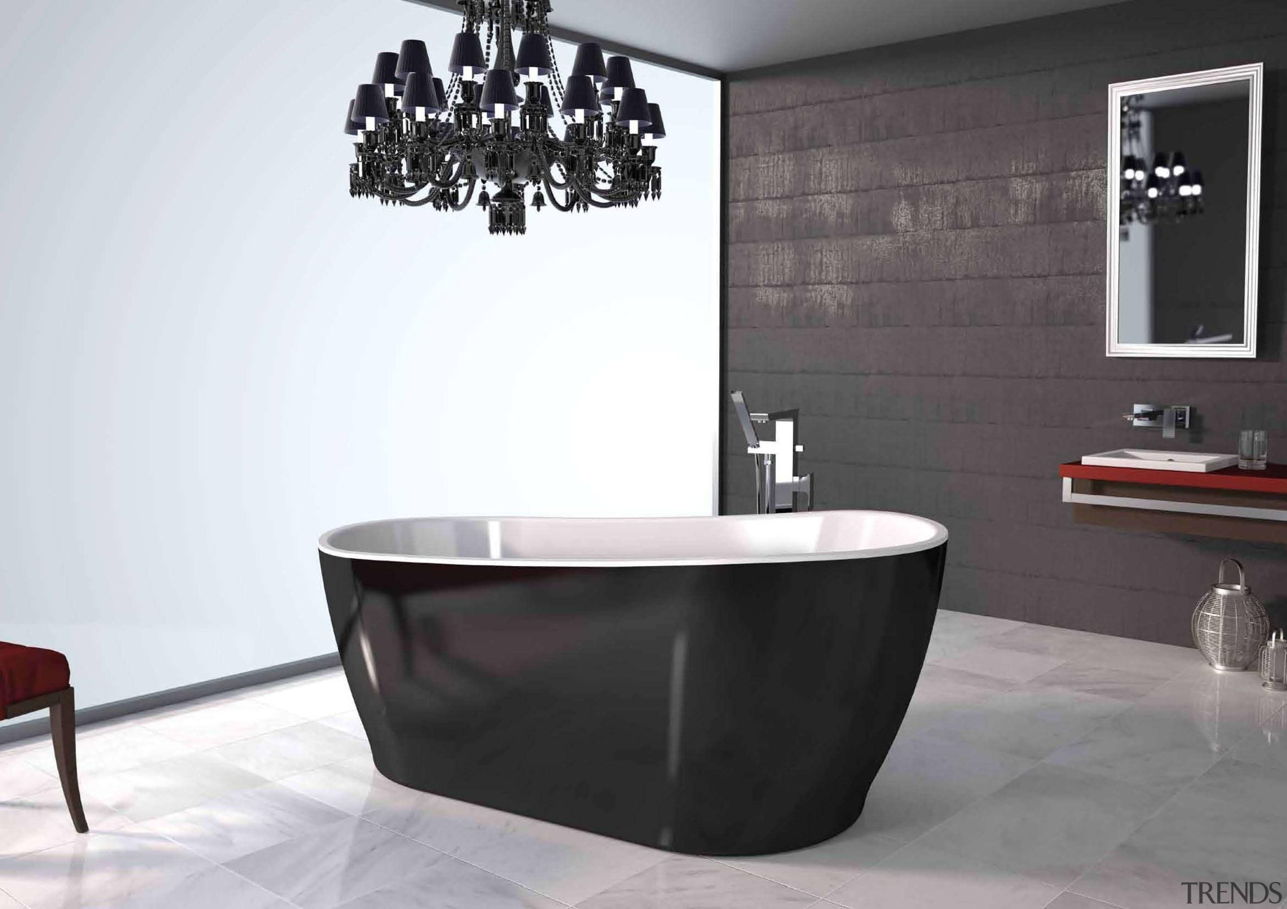 Bathroom ideas that you can find at Home bathroom, bathroom sink, bathtub, ceramic, floor, interior design, plumbing fixture, product design, tap, white, black
