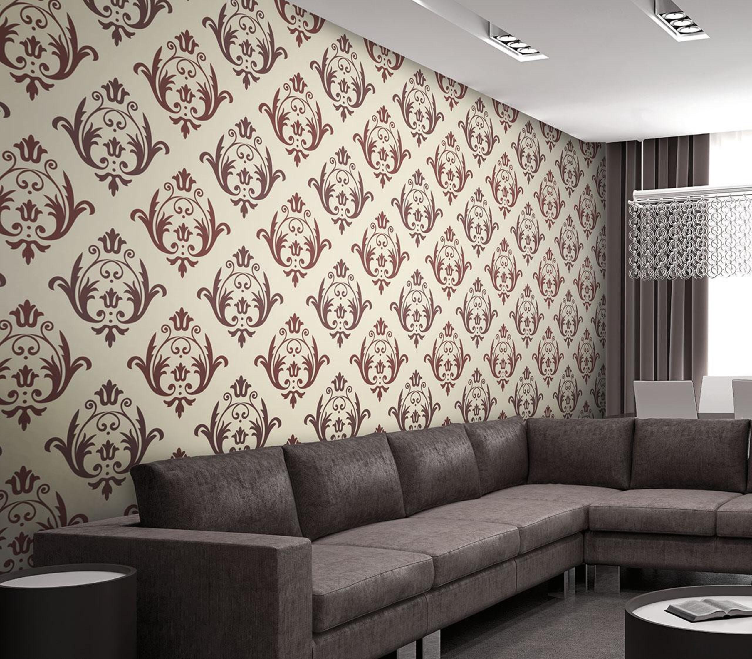 Aurora Range - Aurora Range - angle | angle, ceiling, couch, interior design, living room, pattern, wall, wallpaper, white, black