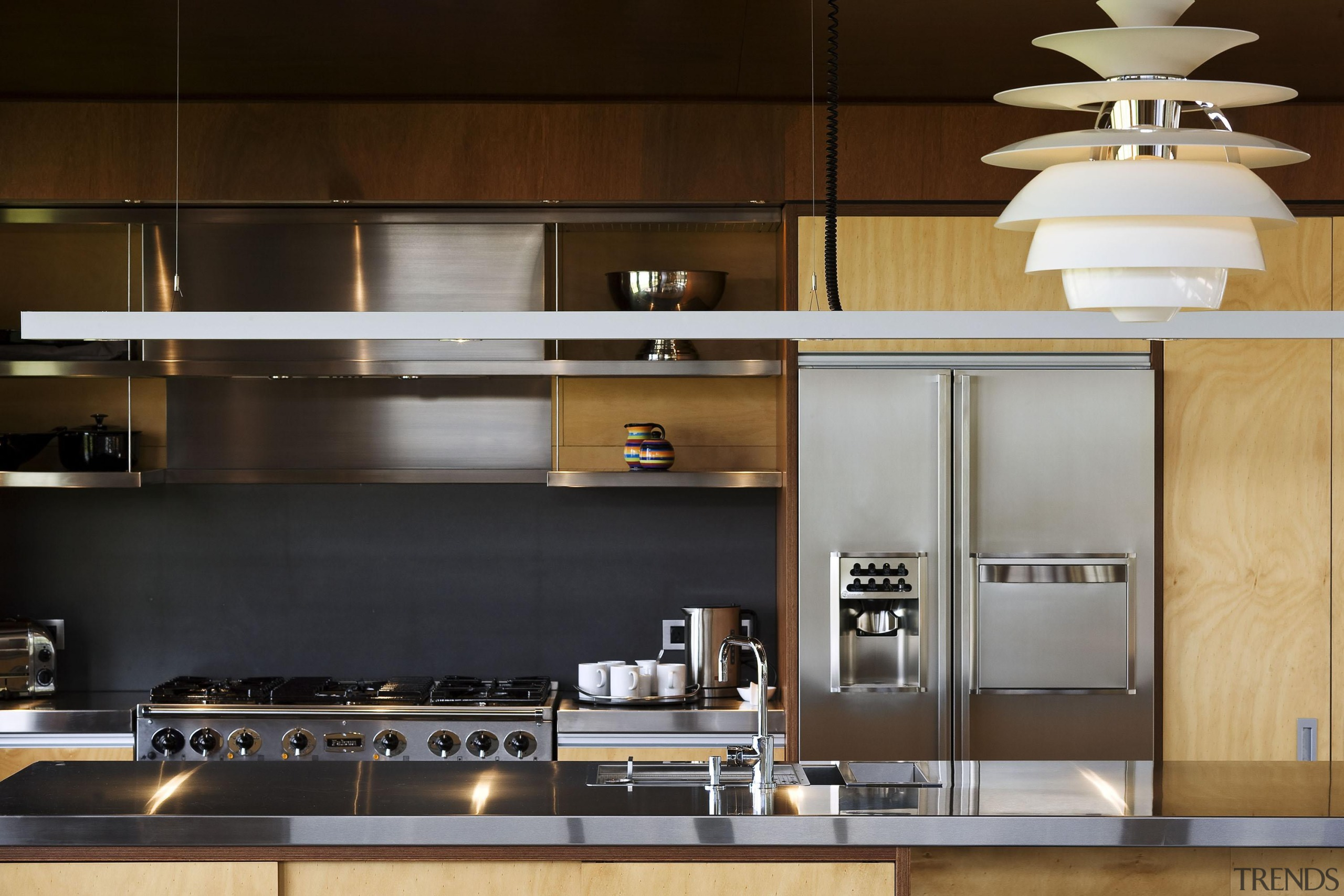 Waiheke Island, Auckland - Owhanake Bay - countertop countertop, cuisine classique, interior design, kitchen, under cabinet lighting, brown, black