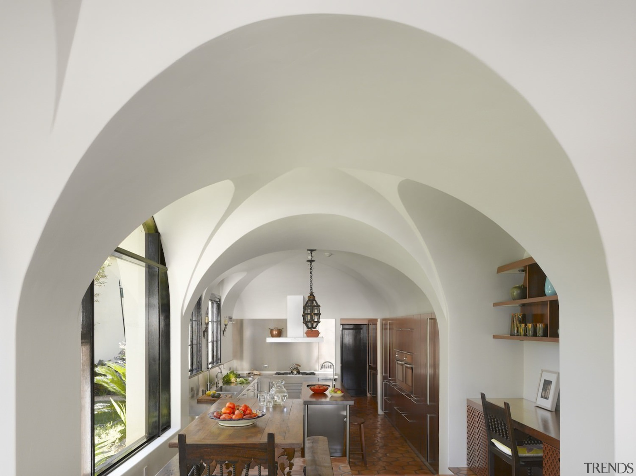 Vaulted ceilings add a level of elegance not arch, architecture, ceiling, estate, interior design, property, gray