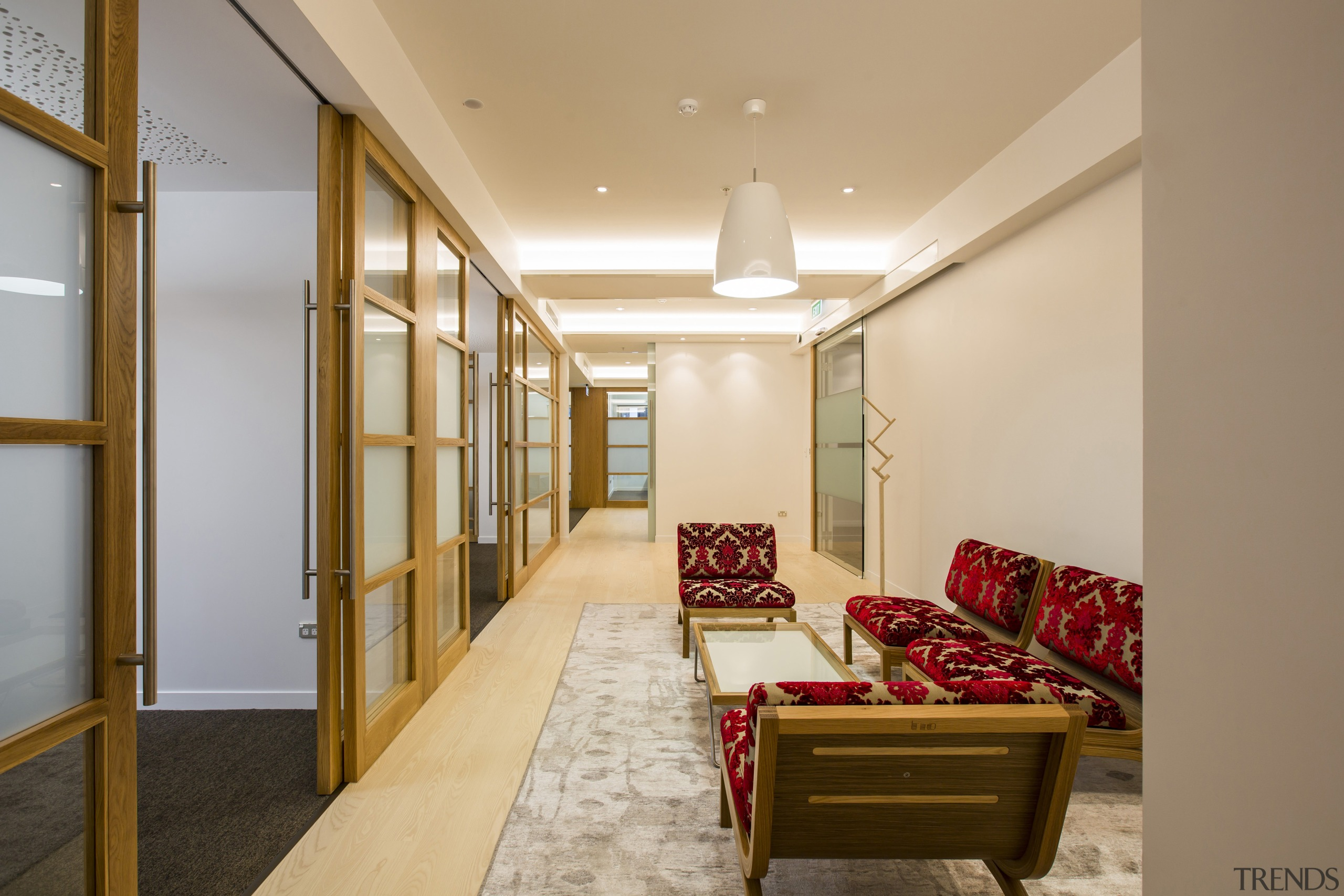 CAAHT Studio Architects works well in a variety ceiling, interior design, living room, lobby, real estate, room, brown, orange, gray