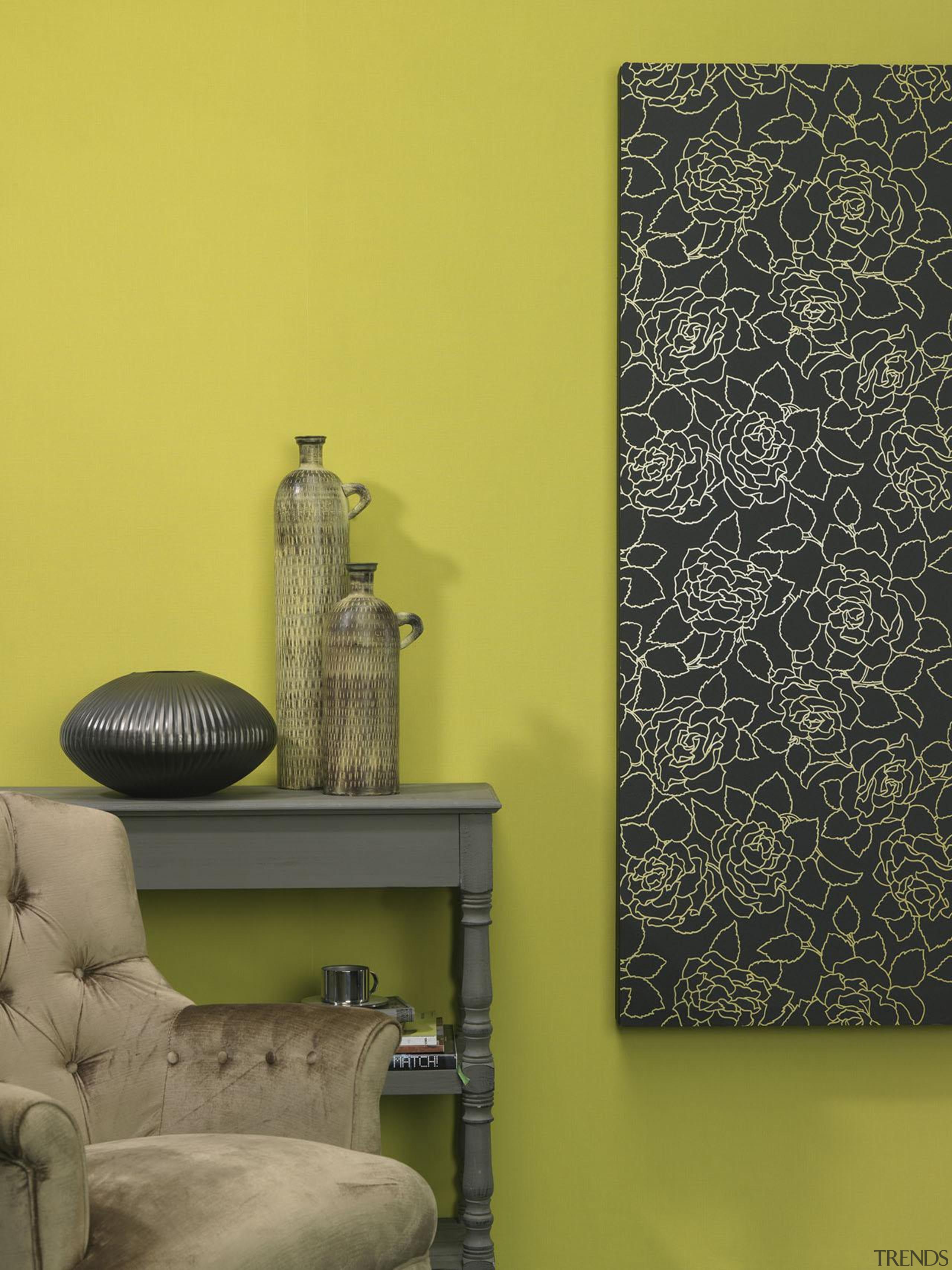Brocante II Range - Brocante II Range - interior design, living room, wall, wallpaper, yellow, brown