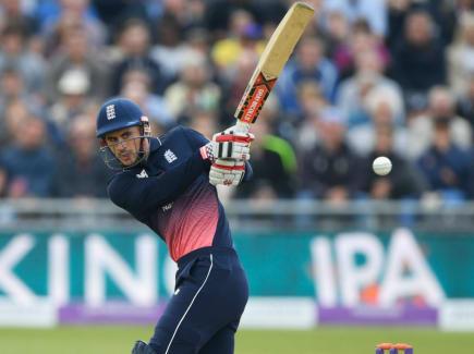 Alex Hales batting for England 2017