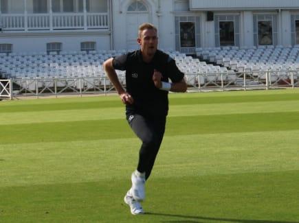 Stuart Broad training