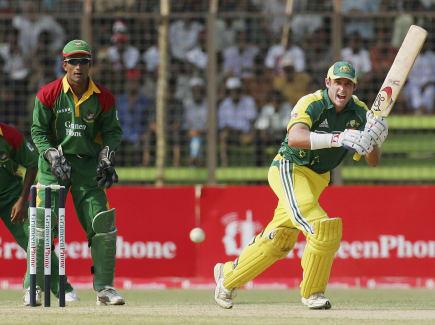 Australia v Bangladesh Hussey