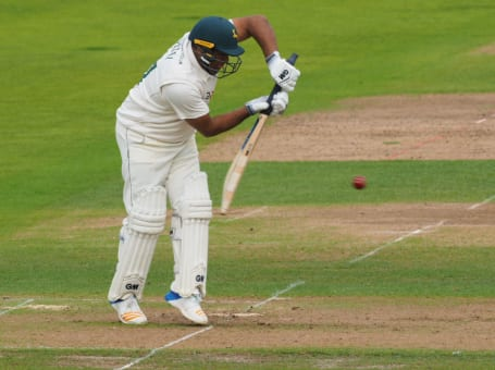 Samit Patel whites defending