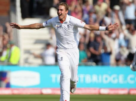 Stuart Broad India hat-trick at TB