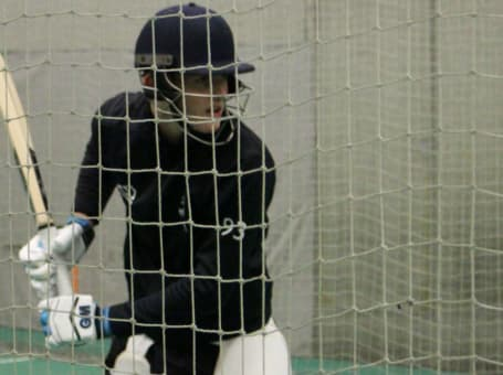 Nick Kimber nets close-up