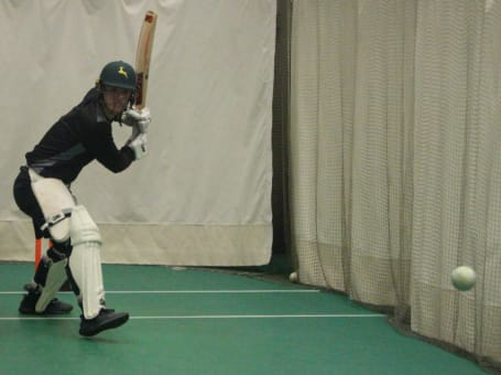 Liam Patterson-White batting nets
