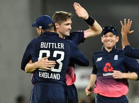 NZ v England ODI Woakes