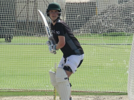 Joey Evison batting