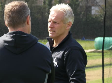 Peter Moores chats to James Pipe