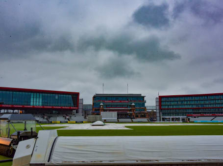 Covers on at Old Trafford