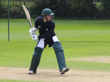 Tom Keast batting
