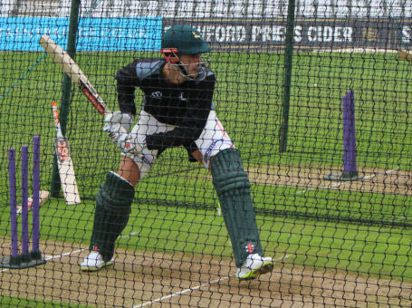 Alex Hales in Notts nets