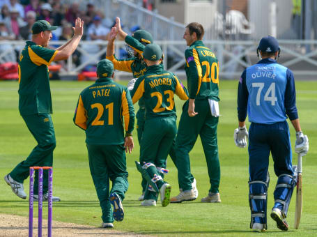 Team Celebration v Derbyshire
