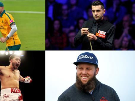 Alex Hales; Beef Johnston; Mark Selby; Dave Allen