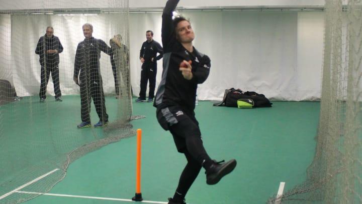 Liam Patterson-White bowling nets
