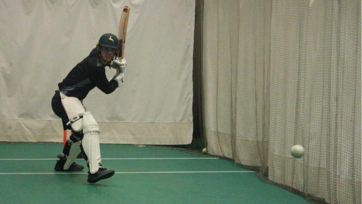 Liam Patterson-White batting nets