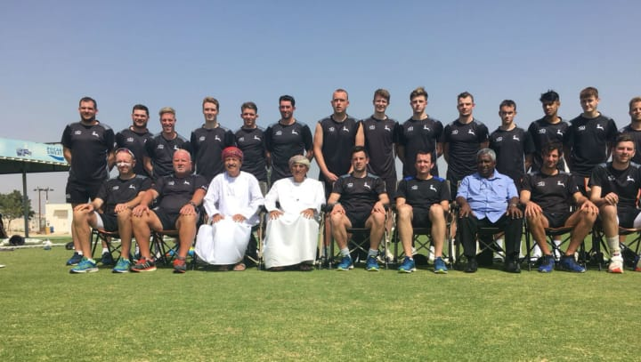 Full squad line-up in Oman