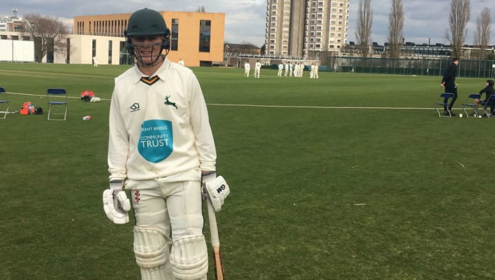 Chris Gibson century at Loughborough