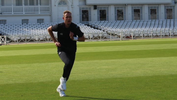 Stuart Broad training