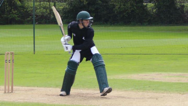 Tom Keast batting
